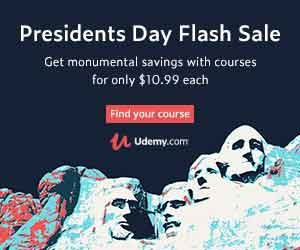 Udemy Presidents Day Sale